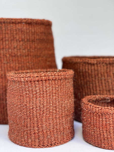Sisal Hanging Storage Baskets in Canyon