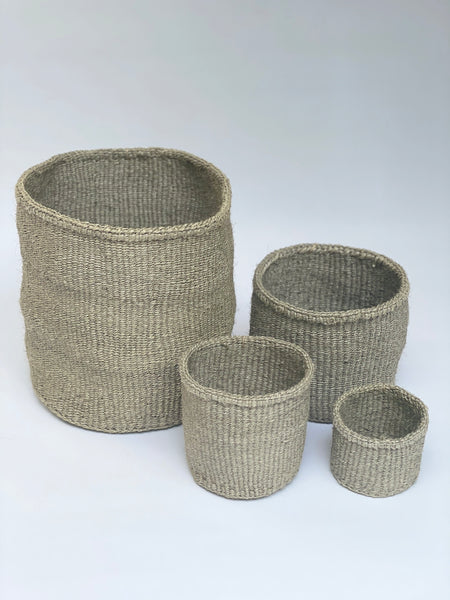 Grey Sisal Storage Baskets