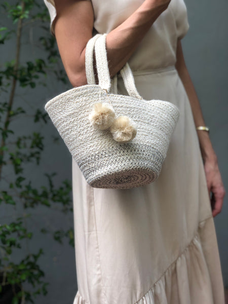 Amari Handwoven Jute Mini Bag