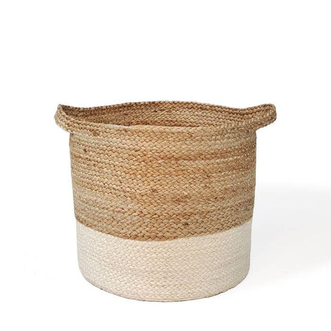 Eco-friendly Ethically Handmade  Fair Trade Sustainable Kata Color block Jute Storage Basket