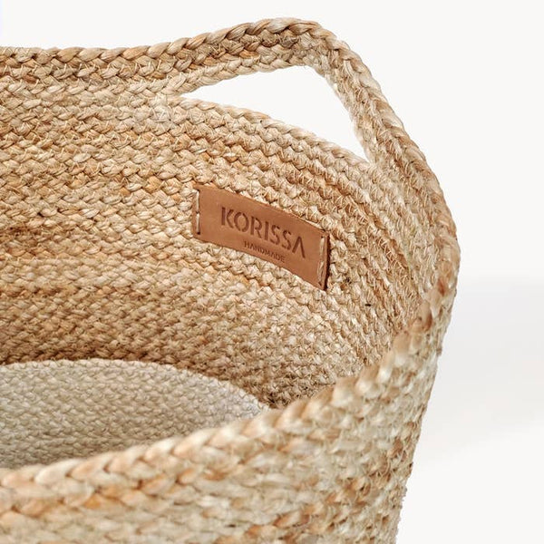 Kata Colorblock Jute Storage Basket