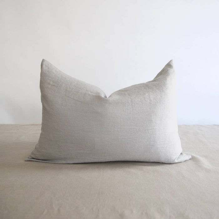 Eco-friendly Ethically Handmade  Lumbar Washed Linen Pillow