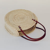 Mia Straw Circle Bag