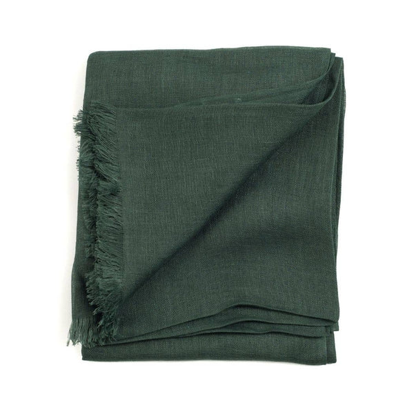 Eco-friendly Ethically Handwoven Organic Small Batch Moss Linen Scarf