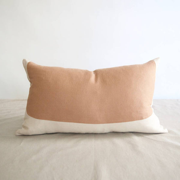 Eco-friendly Ethically Handmade Oval Lumbar Linen Pillow