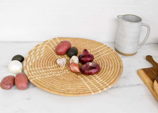 Large Tan Sanaa Woven Wall Art Plate