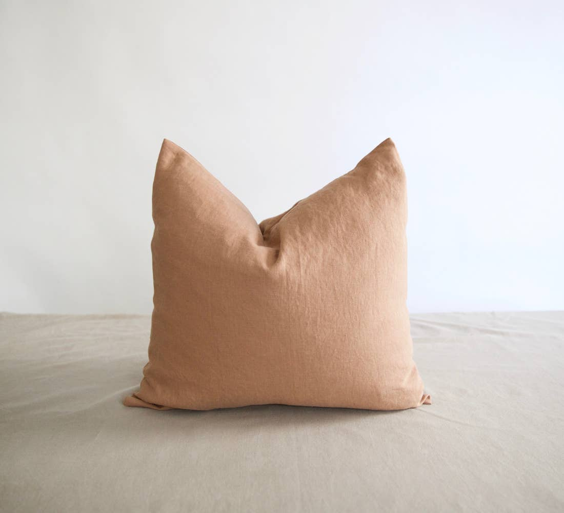 Eco-friendly Ethically Handmade Square Washed Linen Pillow