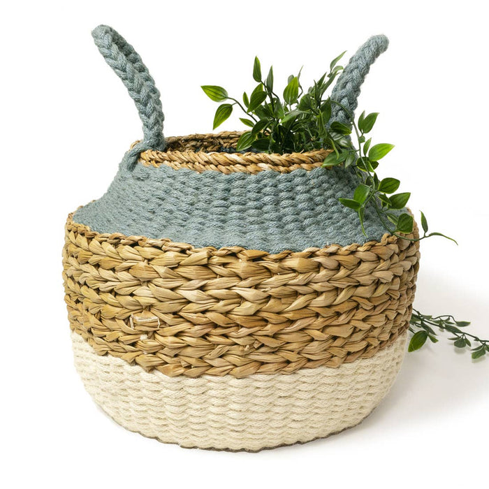 Handmade Ula Foldable Basket with Handles