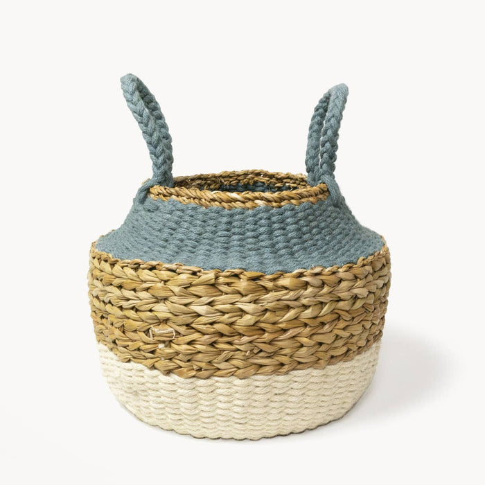 Eco-friendly Ethically Handmade Ula Foldable Basket with Handels