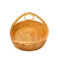 Handmade Rattan Welcome Basket