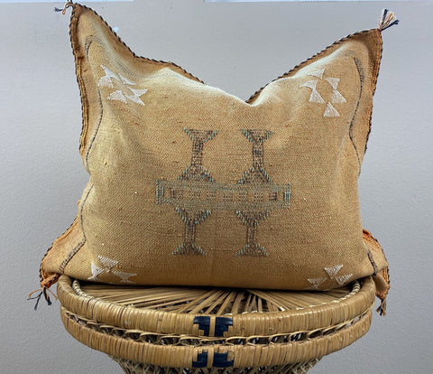 Vegan Fair Trade Handmade Moroccan Silk Sabra Pillow Cover