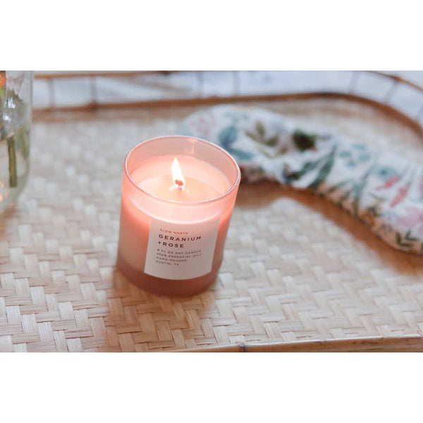 Geranium + Rose Essential Oil Candle