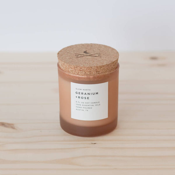 Organic small-batch candle