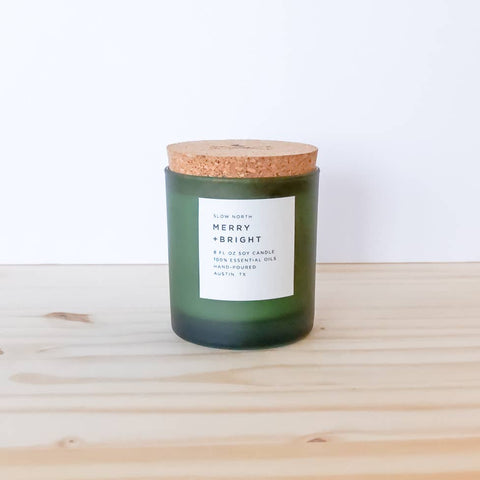 Merry + Bright Essential Oil Candle *Seasonal Item*