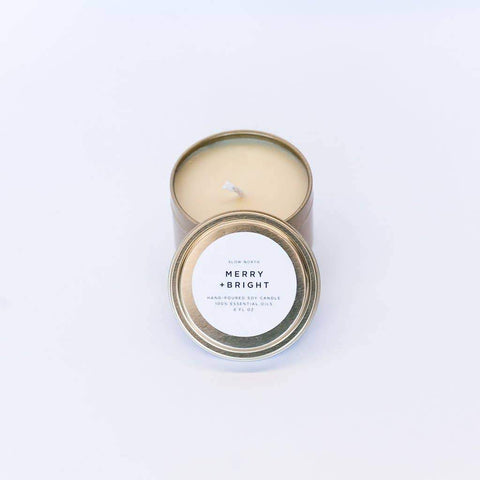 Travel Tin Candle in Merry+ Bright