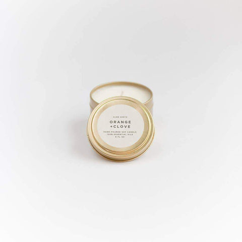 Travel Tin Candle in Orange + Clove
