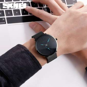 SKMEI Fashion Quartz Stainless Steel Waterproof Casual Watch for Men