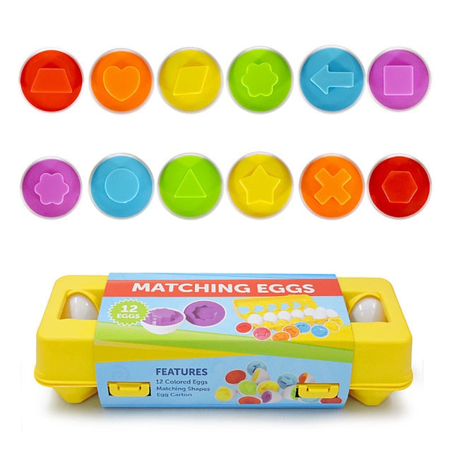 12pces eggs Education Learning Puzzle - Babies Hunt