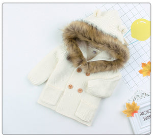 Baby Winter Fur Hooded Sweaters - Babies Hunt