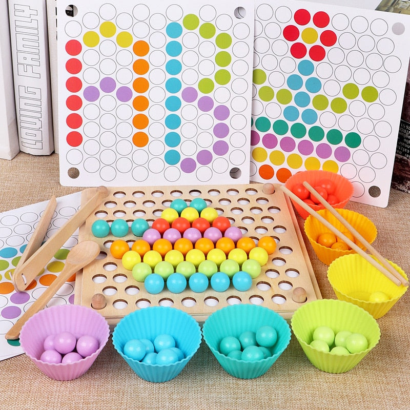 Baby Color Bead Wooden Educational Toy - Babies Hunt