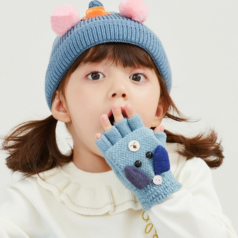 Baby Winter Half Finger Gloves - Babies Hunt
