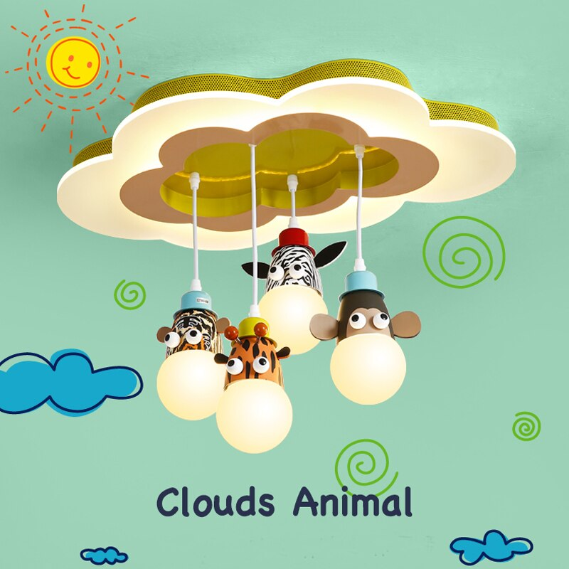 Pendant Cloud Cartoon Lamp - Babies Hunt
