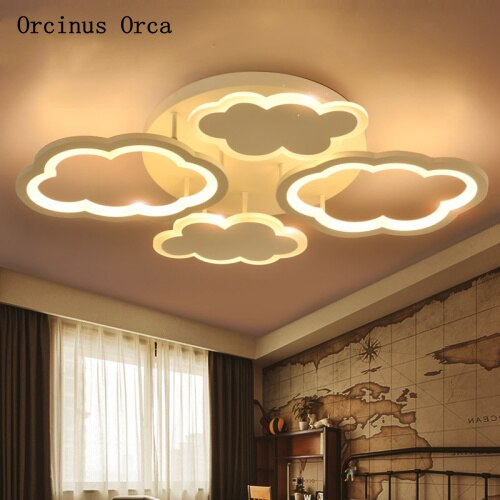 Cartoon Creative Cloud LED ceiling lamp Boys and Girls Bedroom Children's Room Lamp Nordic Modern Simple White ceiling lamp - Babies Hunt