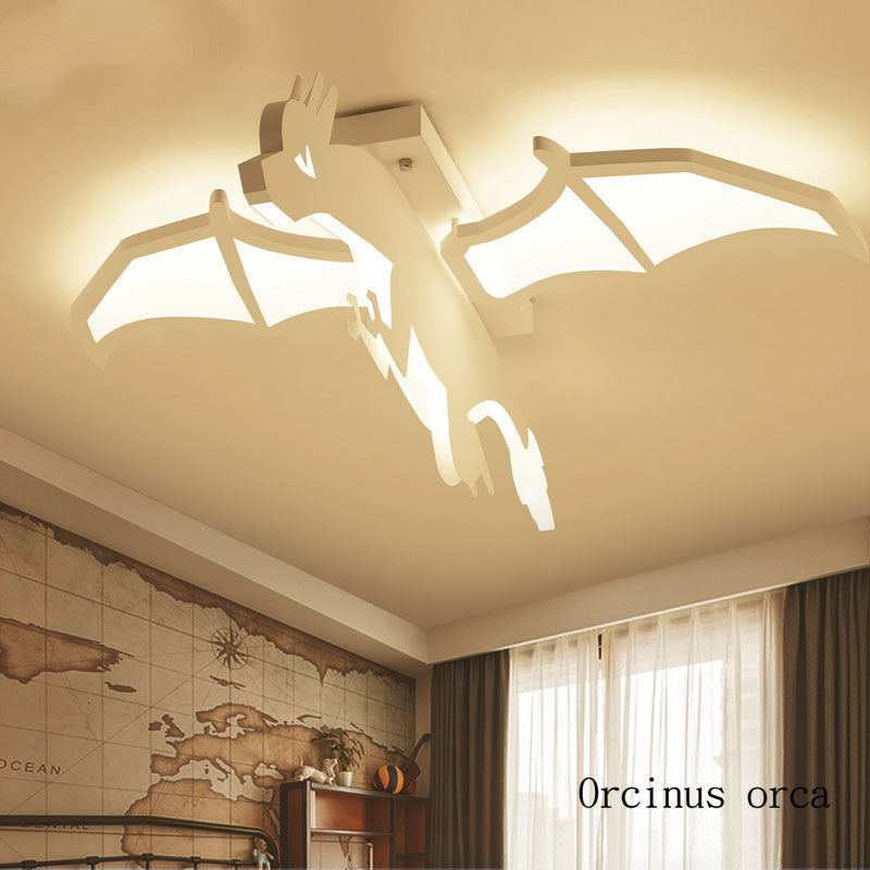 Cartoon Creative Dragon Lamp - Babies Hunt