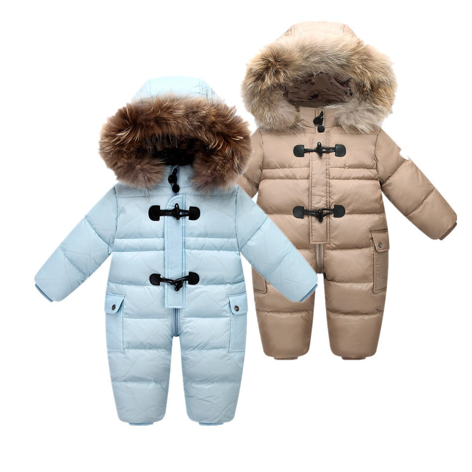 Russian winter baby snowsuit - Babies Hunt