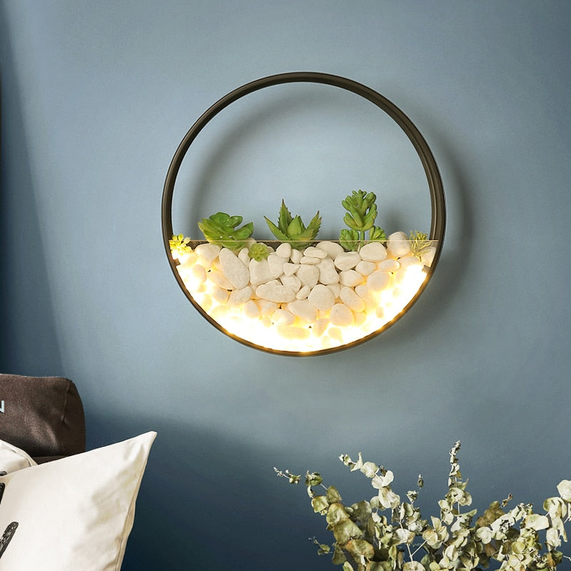 Plant wall Round lights - Babies Hunt