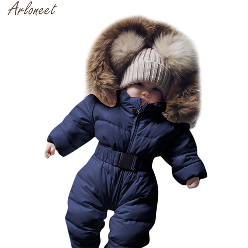 Infant Baby Fur Hooded Snowsuit - Babies Hunt