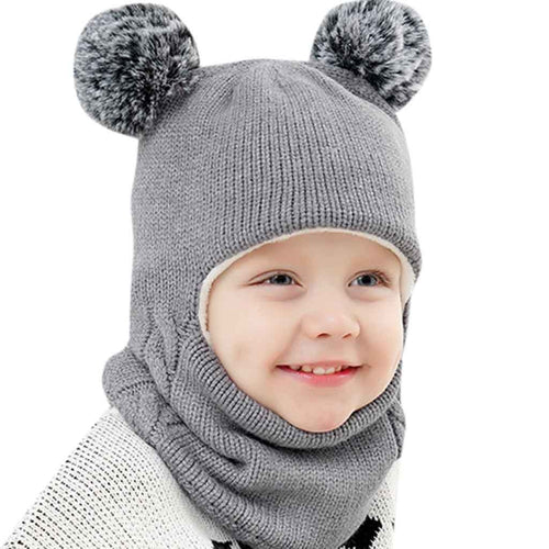 Kids Winter Warm Caps Scarf Set - Babies Hunt