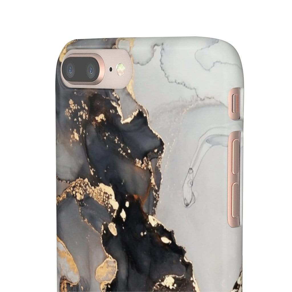 Printify iPhone Case Black & Gold Iphone Snap Cases