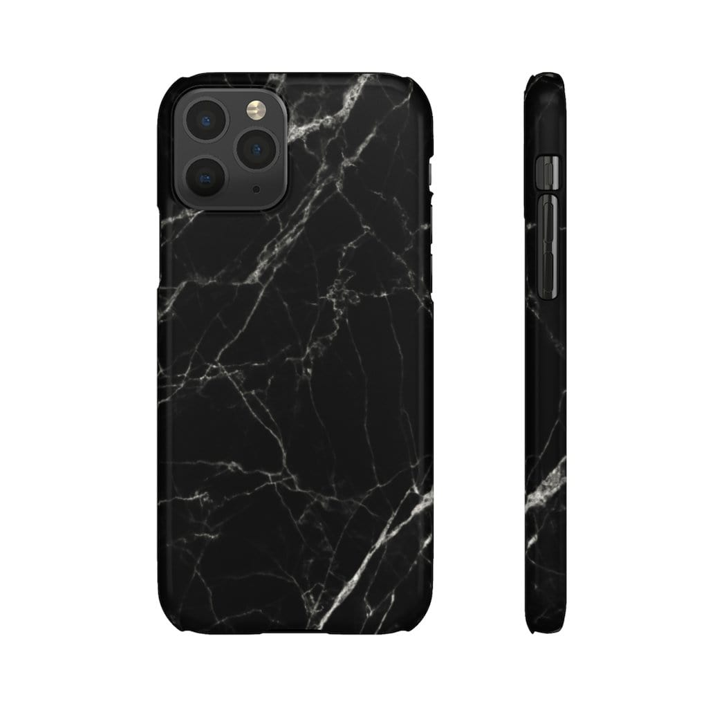 Printify Phone Case iPhone 11 Pro / Glossy Black Marble IPhone Snap Case