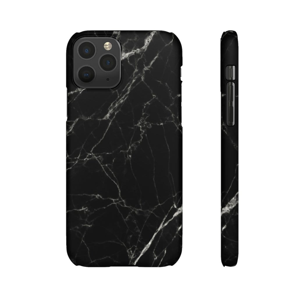 Printify Phone Case iPhone 11 Pro / Matte Black Marble IPhone Snap Case
