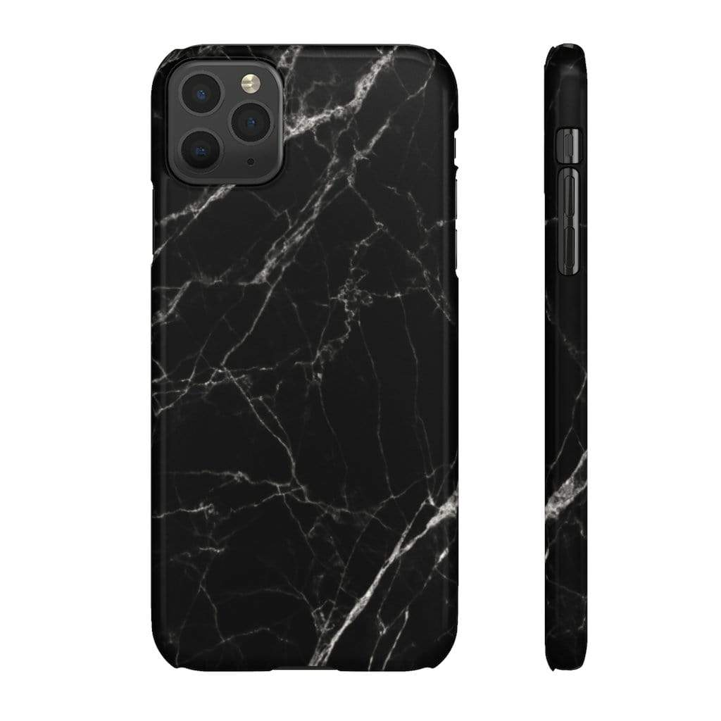 Printify Phone Case iPhone 11 Pro Max / Glossy Black Marble IPhone Snap Case