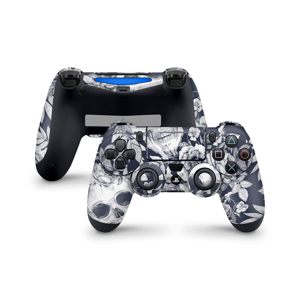 Decal Kings PlayStation 4 Skin PlayStation 4 / Controller Blue Skulls PS4 Skin