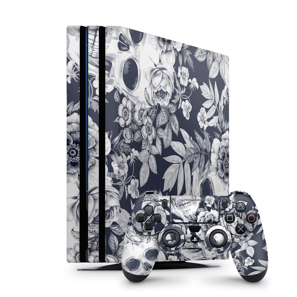 Decal Kings PlayStation 4 Skin PlayStation 4 Pro / Console + Controllers Blue Skulls PS4 Skin