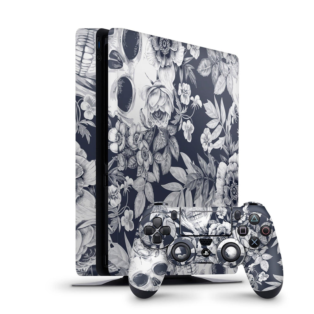 Decal Kings PlayStation 4 Skin PlayStation 4 Slim / Console + Controllers Blue Skulls PS4 Skin