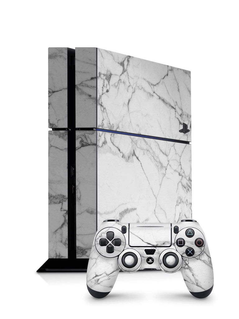 Decal Kings PlayStation 4 Skin PlayStation 4 / Console + Controllers Classic White Marble PS4 Skin