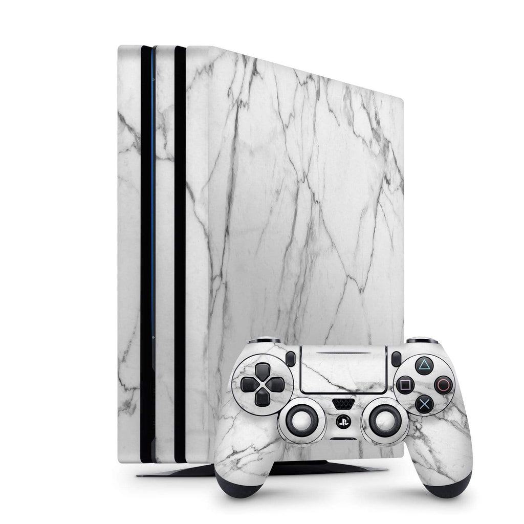 Decal Kings PlayStation 4 Skin PlayStation 4 Pro / Console + Controllers Classic White Marble PS4 Skin