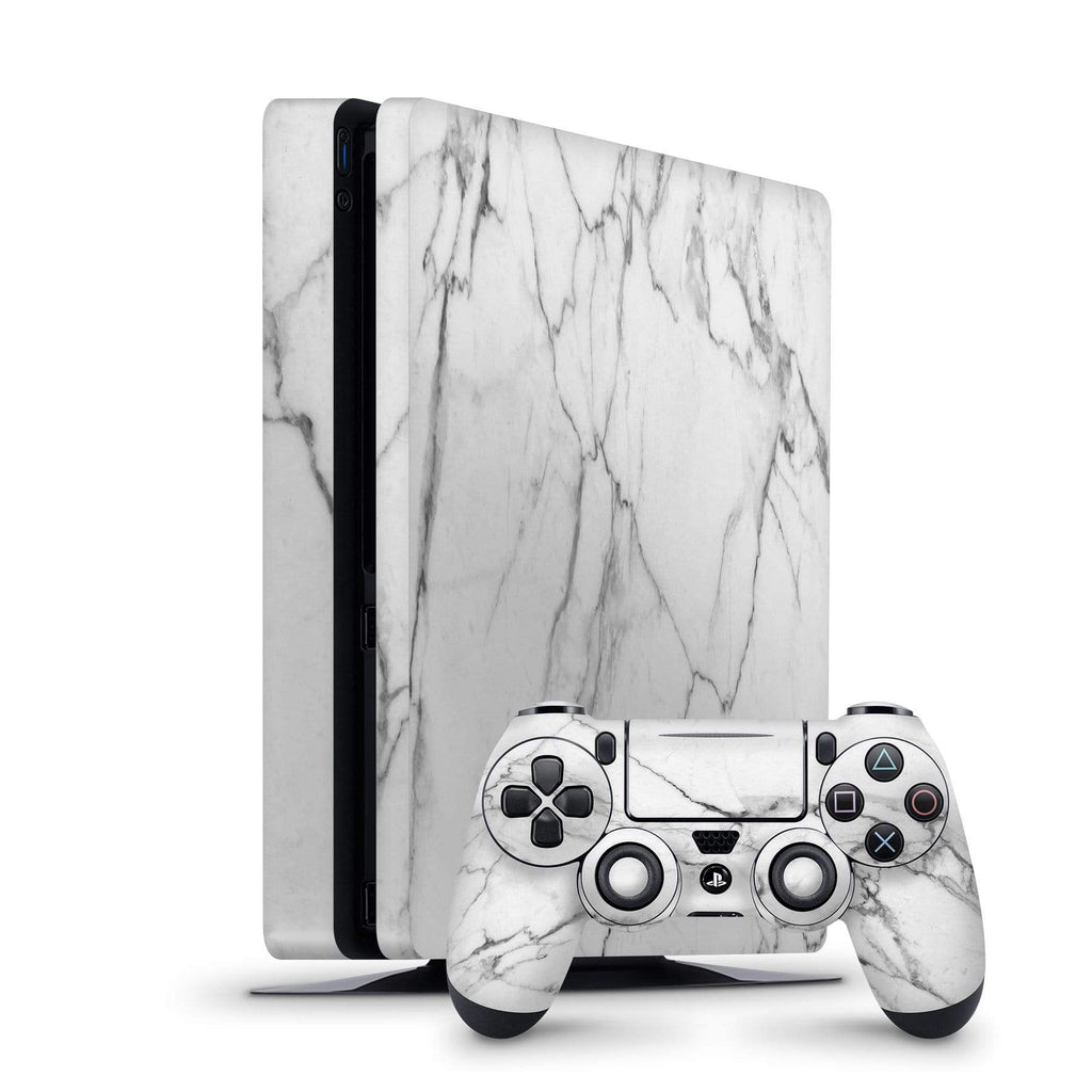 Decal Kings PlayStation 4 Skin PlayStation 4 Slim / Console + Controllers Classic White Marble PS4 Skin