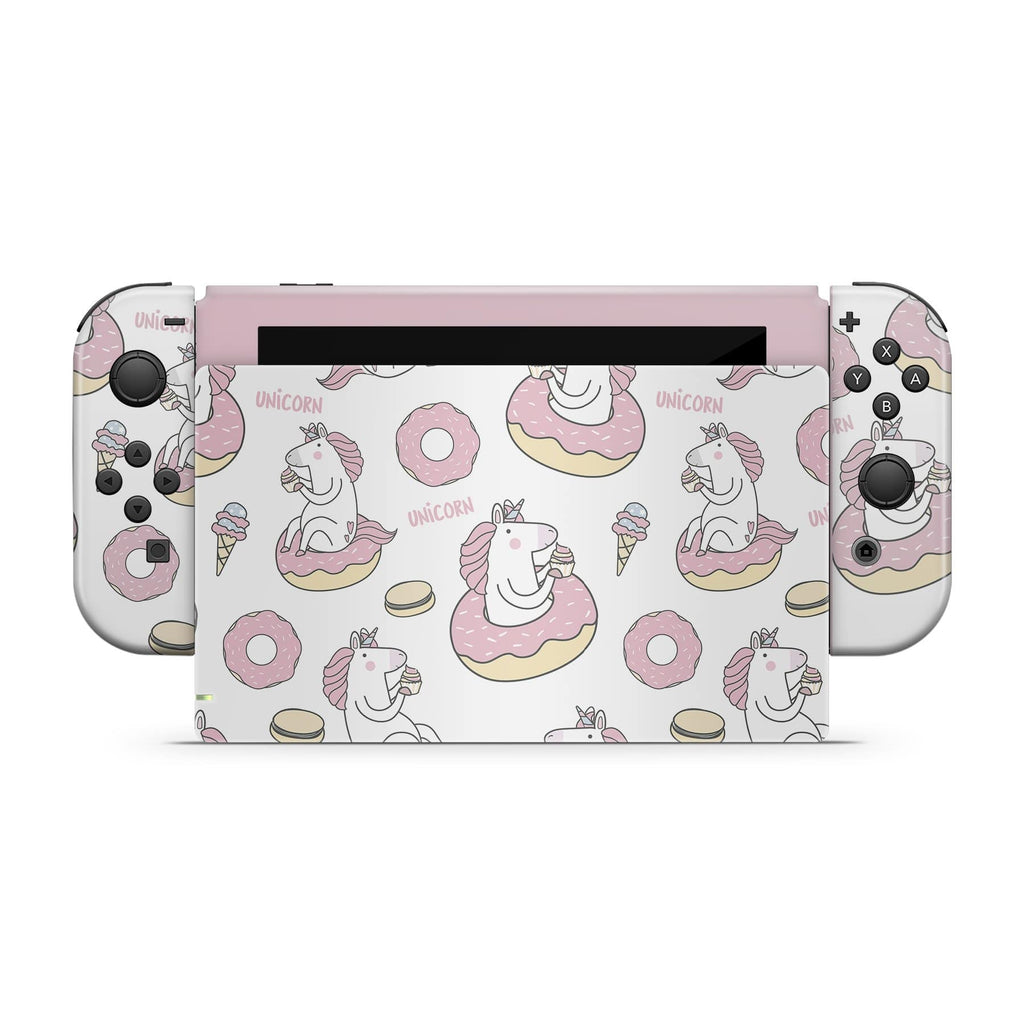 Decal Kings Nintendo Switch Skin Donuts Unicorn Nintendo Switch Skin