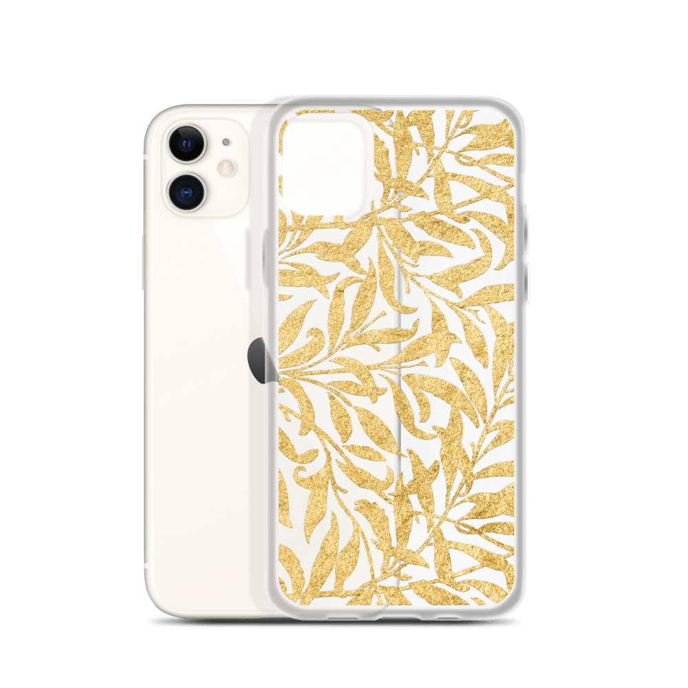 Decal Kings Golden Leaves iPhone Case