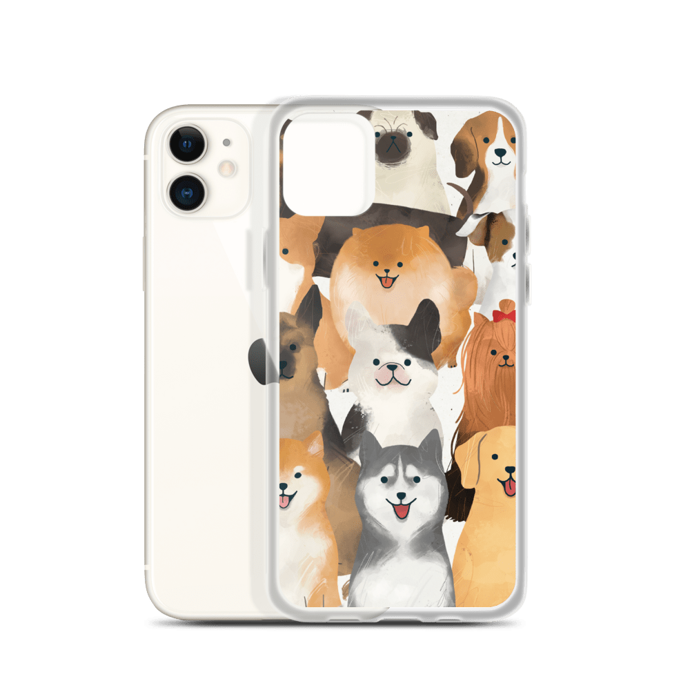 Decal Kings Happy Dogs iPhone Case