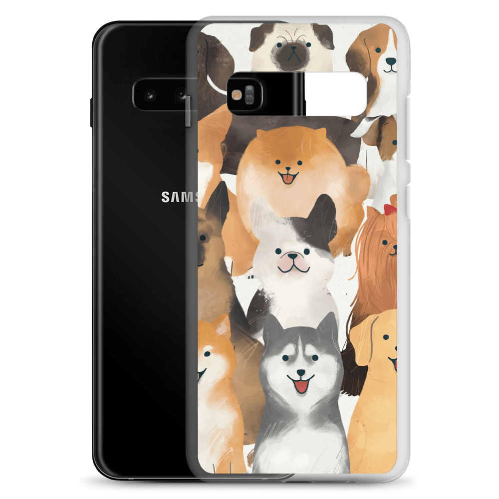 Decal Kings Happy Dogs Samsung Case