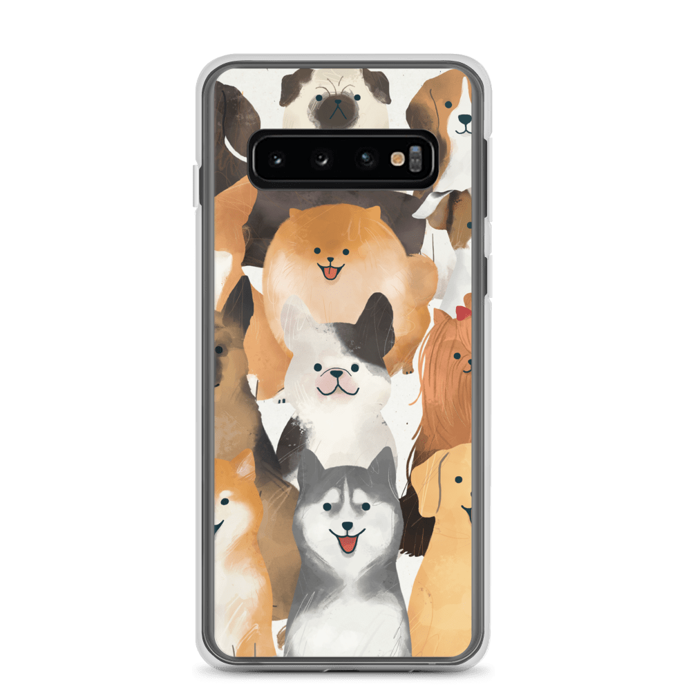 Decal Kings Samsung Galaxy S10 Happy Dogs Samsung Case