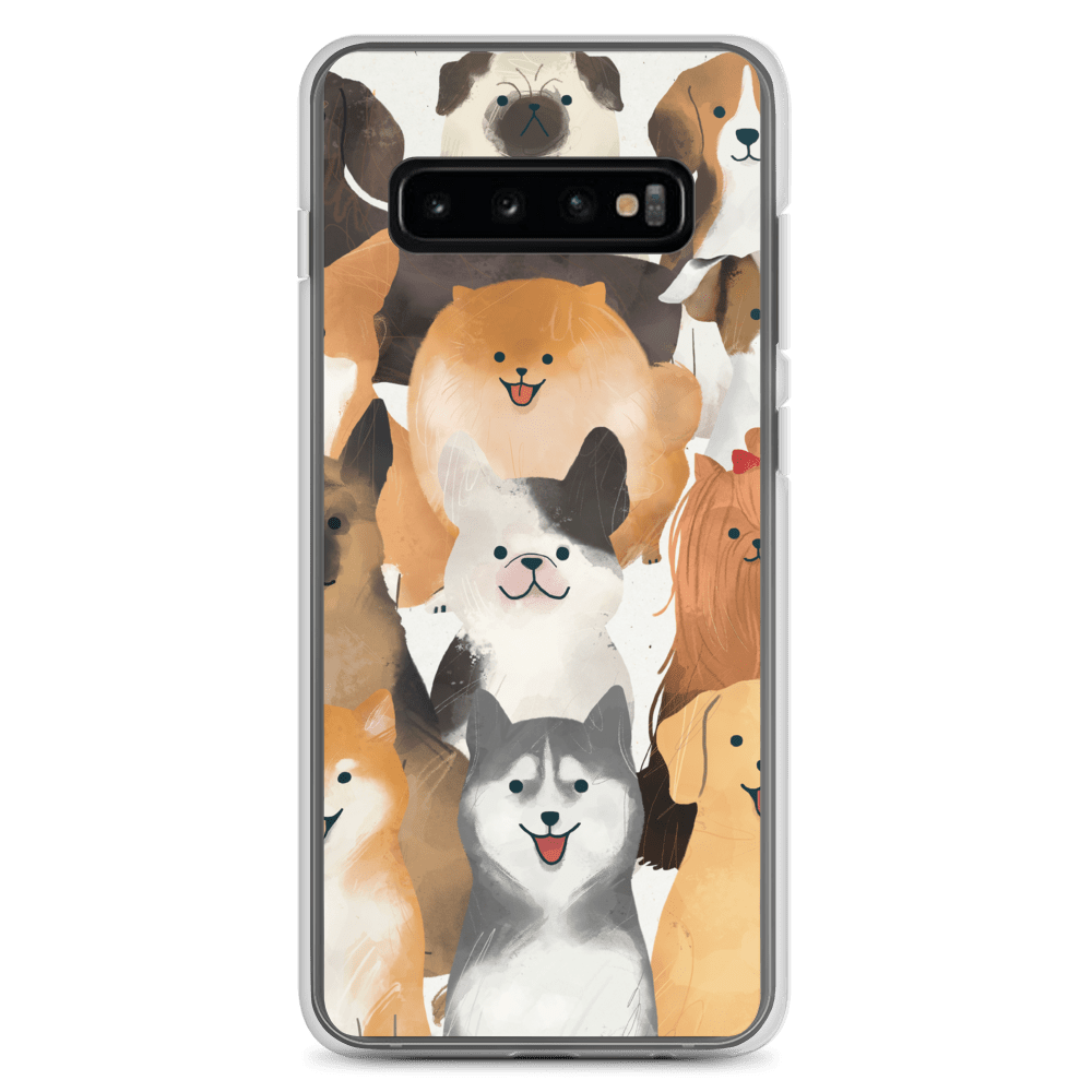 Decal Kings Samsung Galaxy S10+ Happy Dogs Samsung Case
