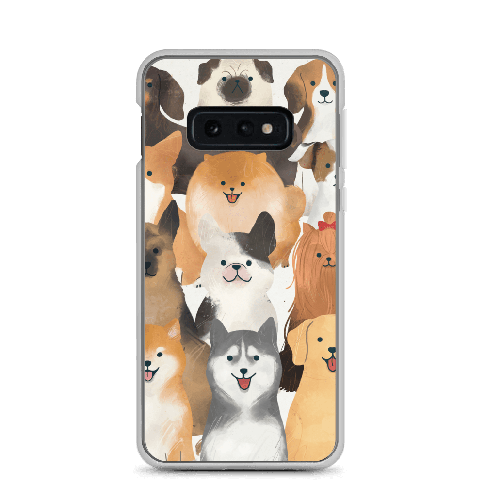 Decal Kings Samsung Galaxy S10e Happy Dogs Samsung Case
