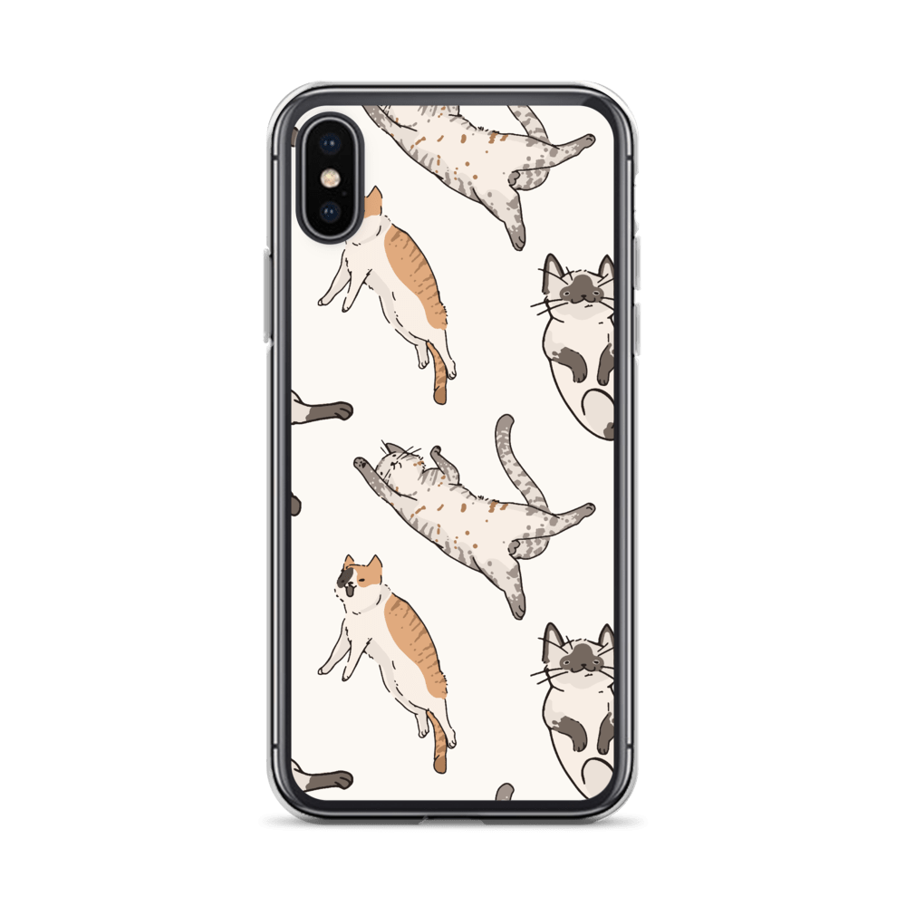 Decal Kings iPhone X/XS It's Raining Cats! iPhone Case